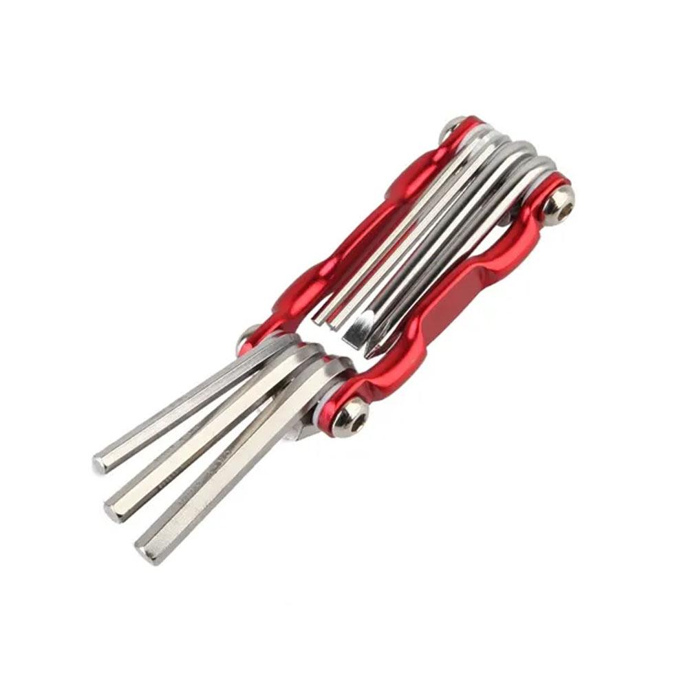 Canivete Chave Allen Vermelha Alumino 7 Funções