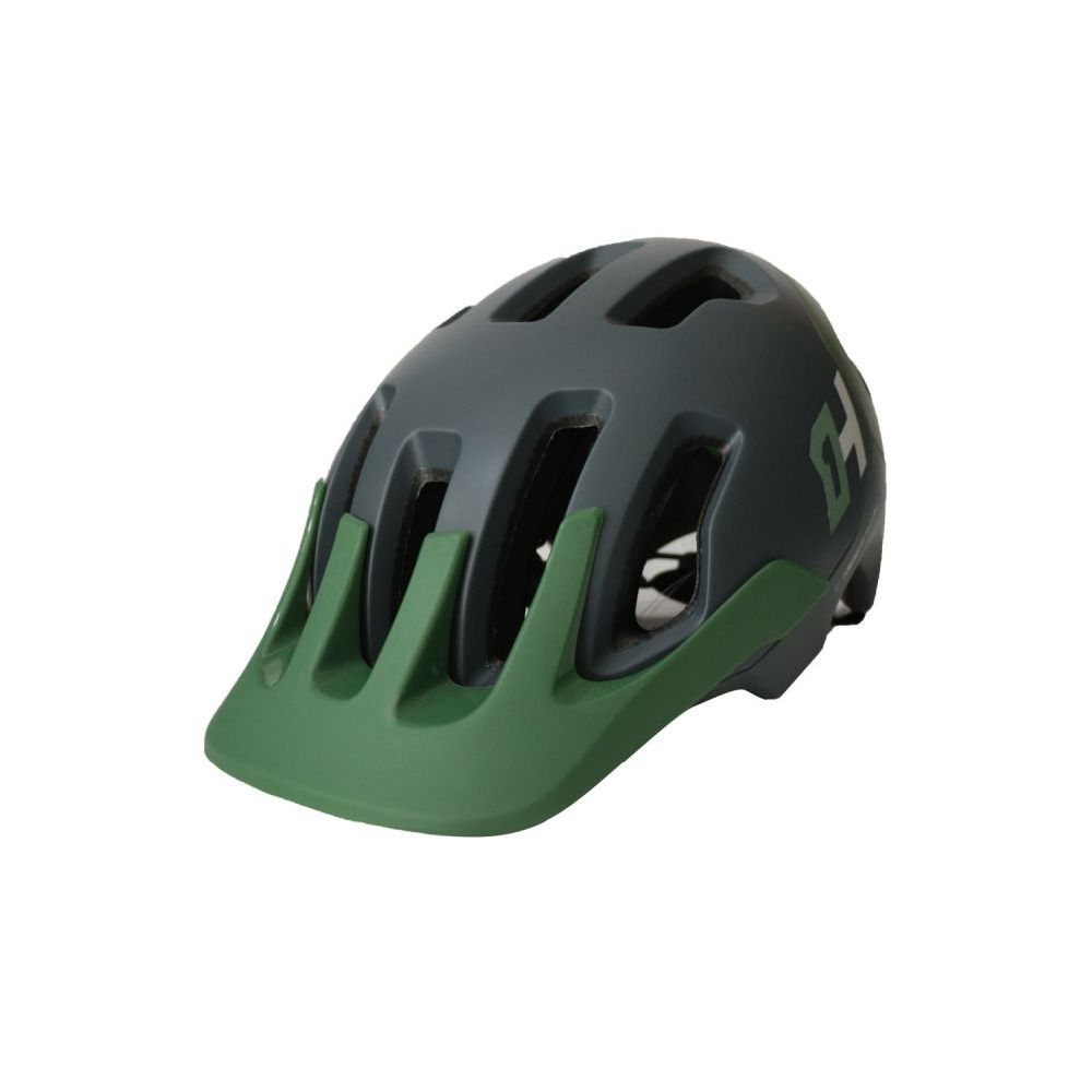 Capacete High One T/M Headpro De Enduro Cinza Com Verde Militar