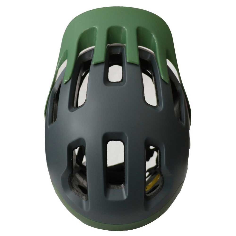 Capacete High One T/G  Headpro Enduro Cinza / Verde Militar