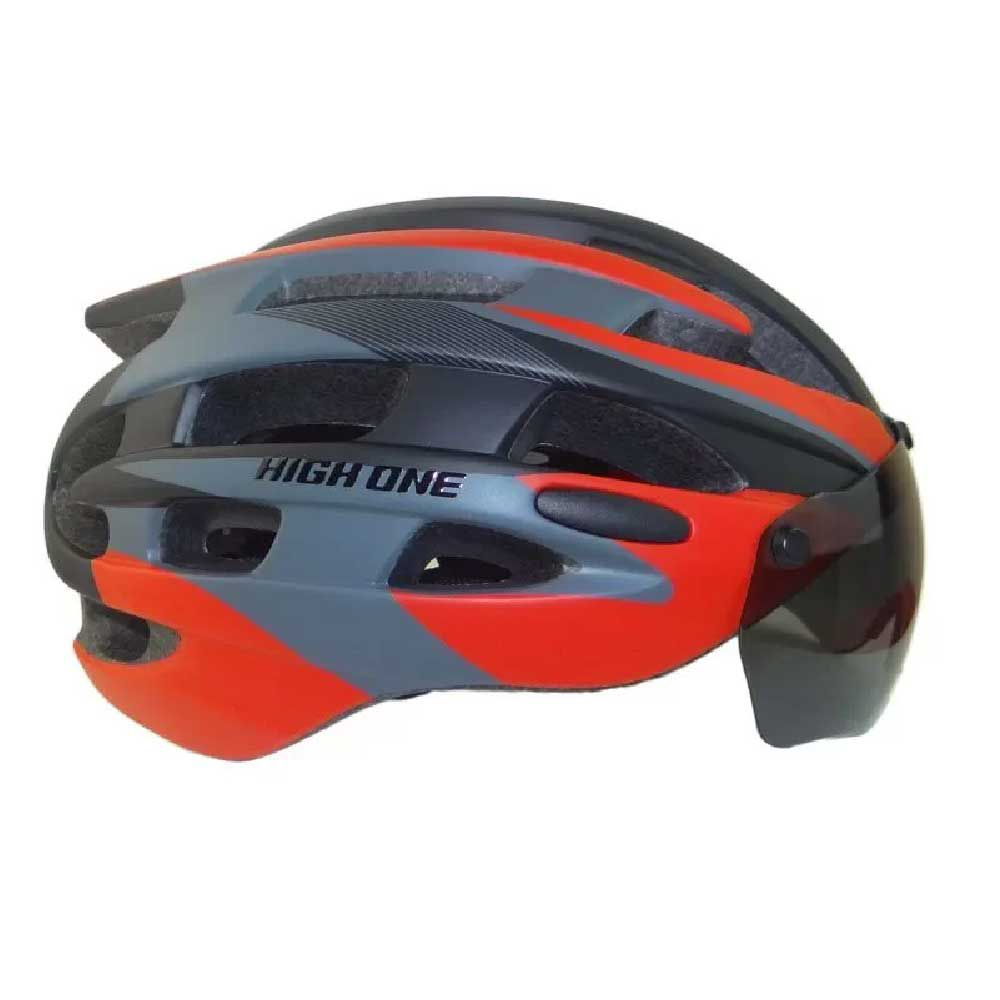 Capacete High One T/m Casco Pto/Vmo + Oculos