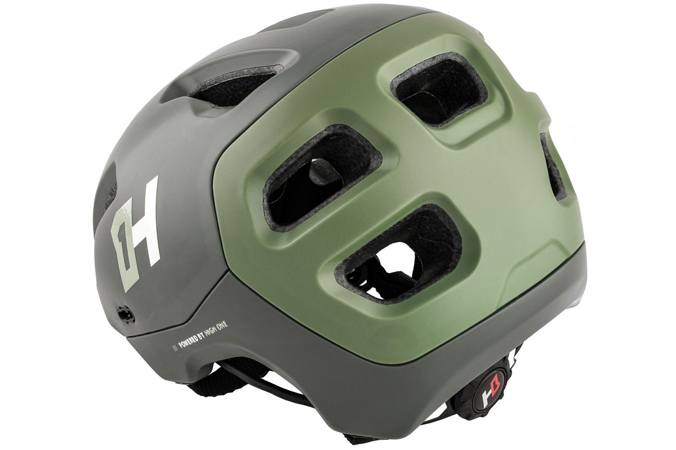 Capacete High One T/M  Headpro Enduro Cinza / Verde Militar