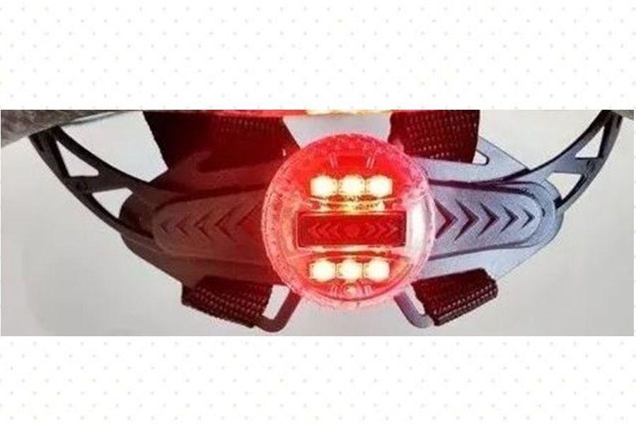 CAPACETE MTB TSW RAPTOR II LED PT/CINZA/VERMELHO C/VIS.