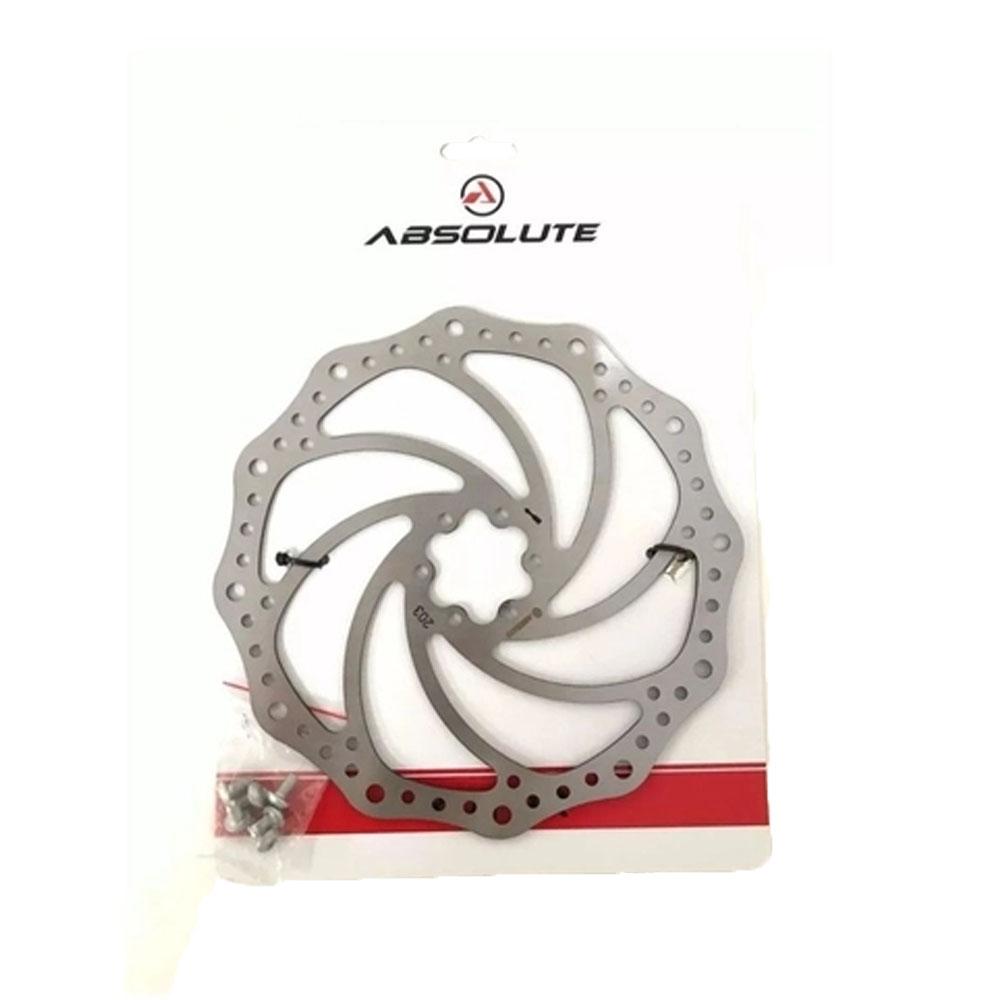 Disco Rotor De Freio Absolute YRT01 203MM 6 parafusos - Aço