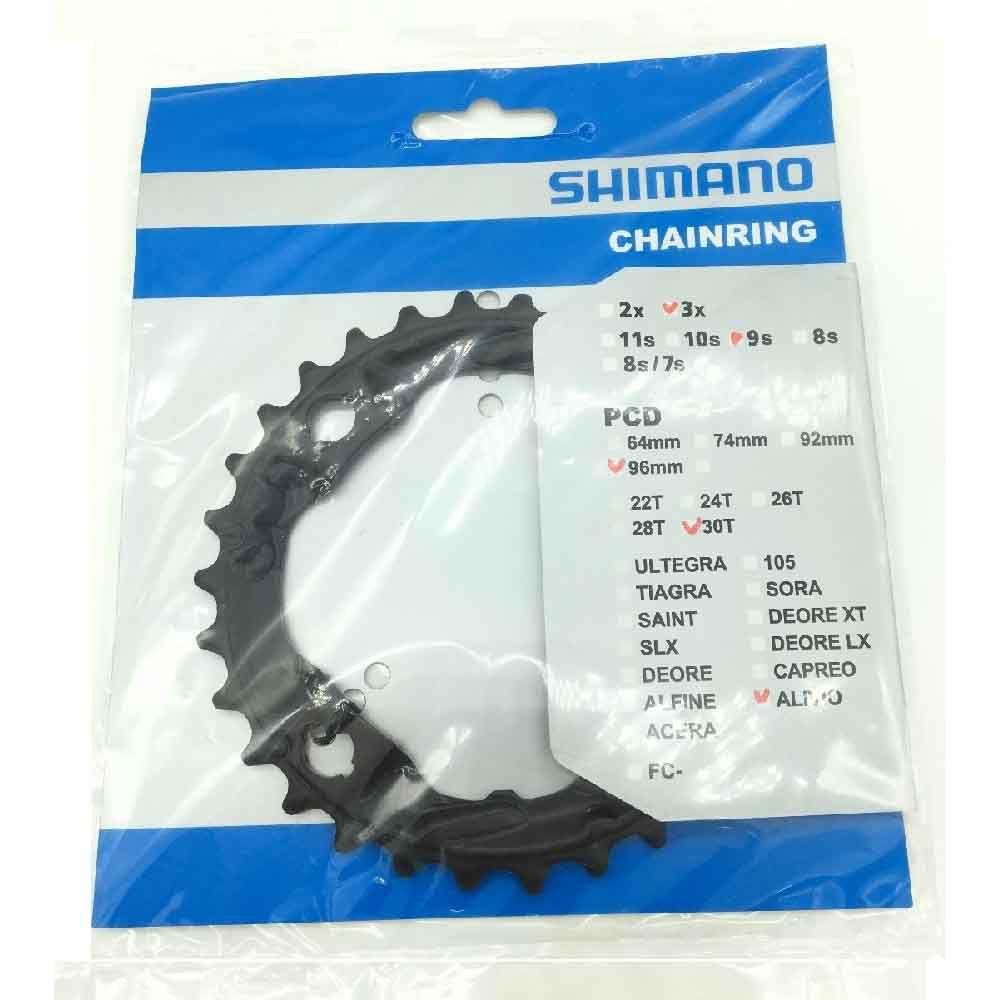Engrenagem coroa  Shimano Alivio M4000 M4050 30d Bcd 96mm 9v