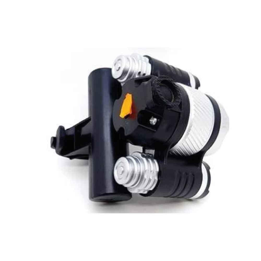 Farol Lanterna 3 Foco Led Zoom Recarregável Ecooda EC-6088