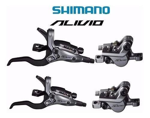 Freio A Disco Hidráulico Shimano Alivio Br M4050 Alavanca 27
