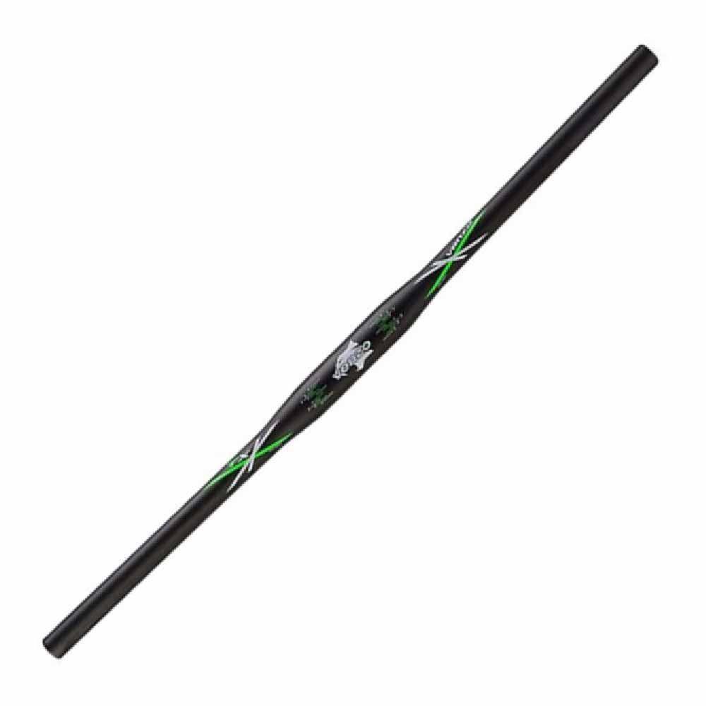 Guidão Reto Venzo Tx Preto Com Verde Alumínio 31.8x700mm