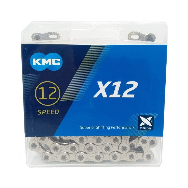 KIt grupo 12V Absolute 1x12 Pedivela+Cassete+Corrente kmc