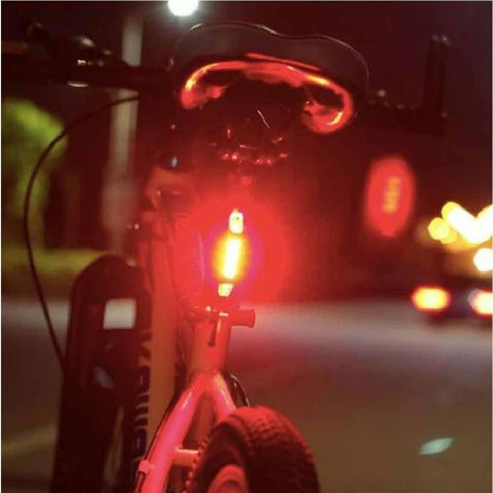 Lanterna De Led Tsw Traseira Recarregável Usb Vermelha