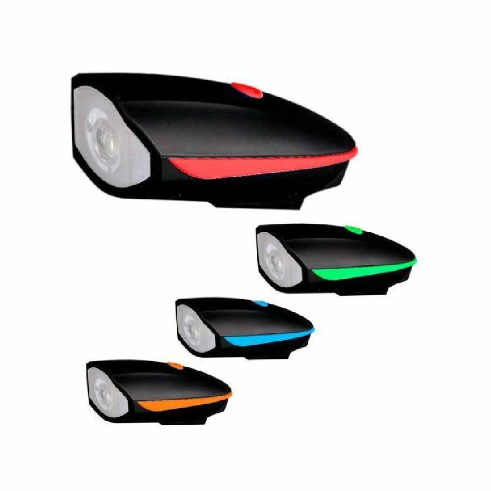 Lanterna Farol De Led Com Buzina SY0056 Recarregável USB