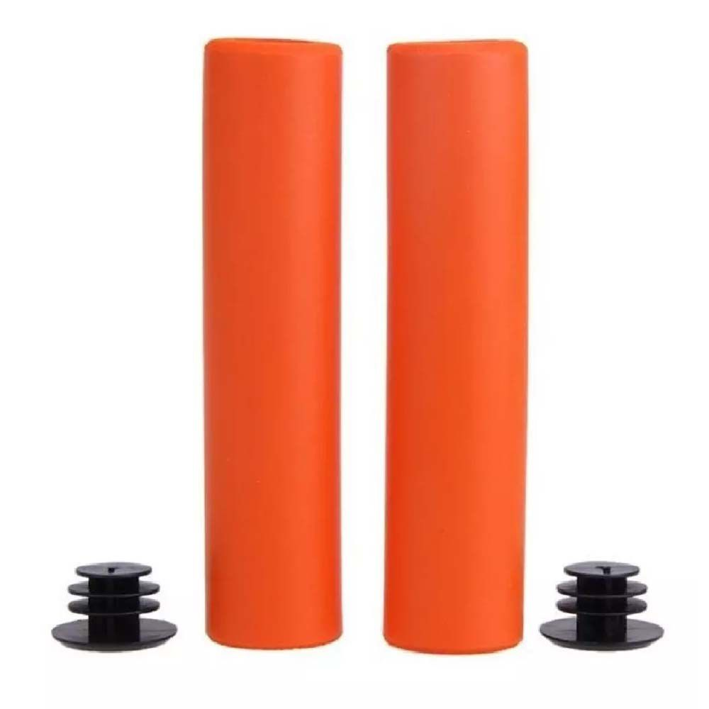 Manopla Punho High One Laranja Light Silicone Mtb