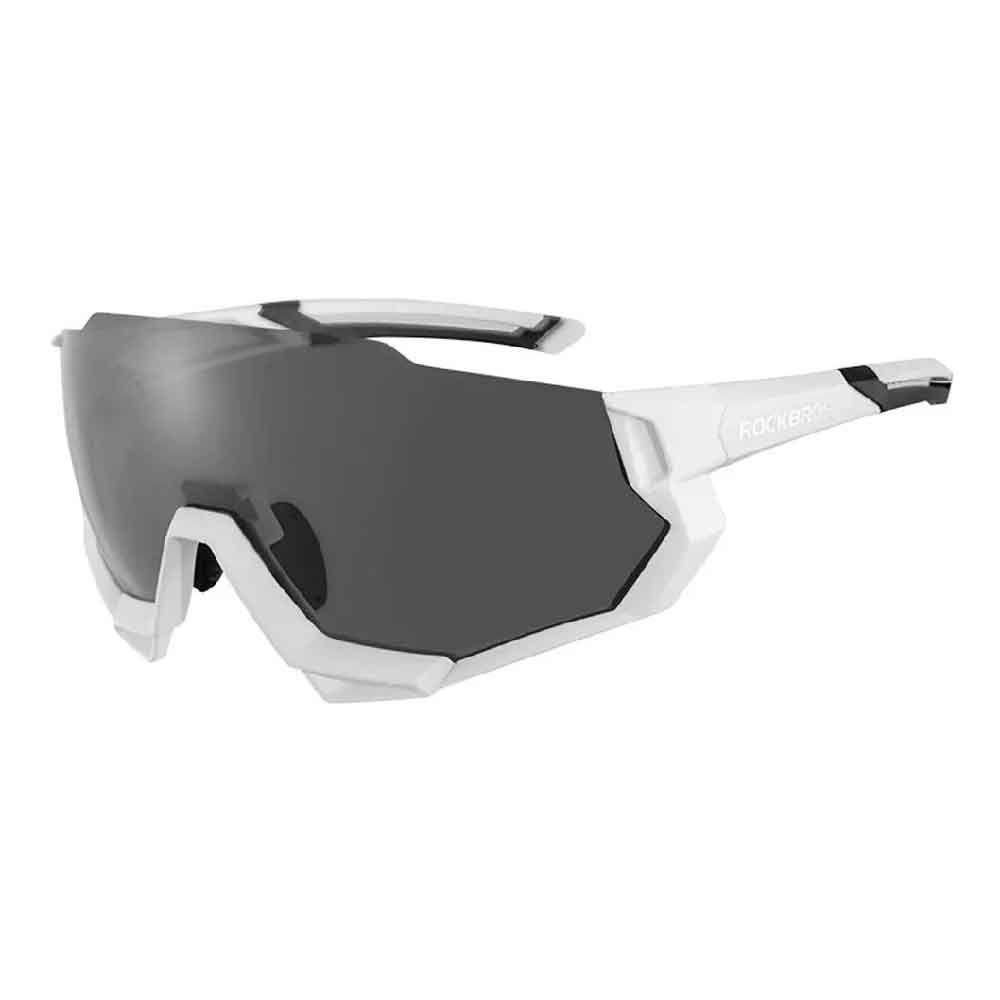 Oculos Rockbros Ciclismo Branco 5 Lentes Polarized 100% UV