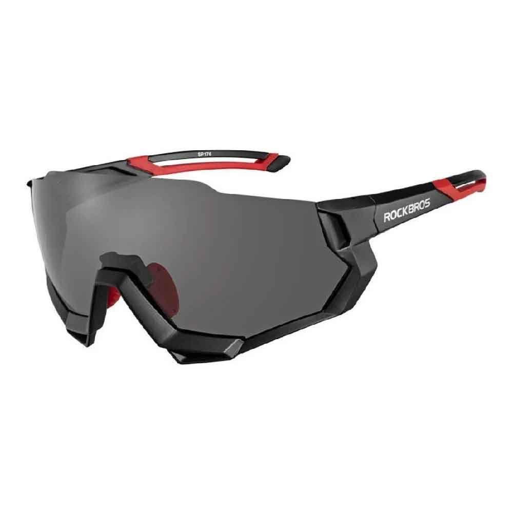 Oculos Rockbros Ciclismo Preto 5 Lentes Polarized 100% UV