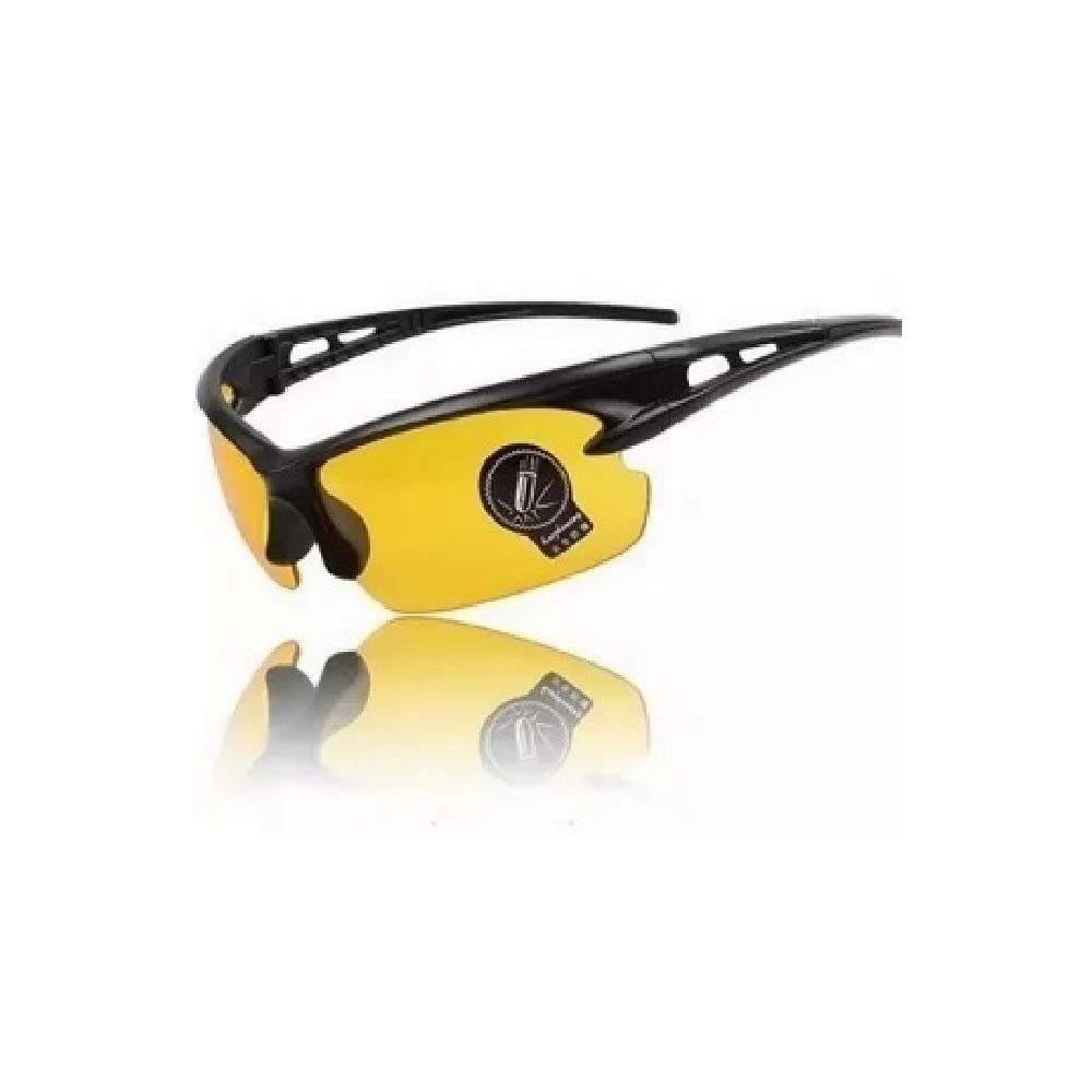 Óculos Visão Noturna Com Lente Amarela E Transparente