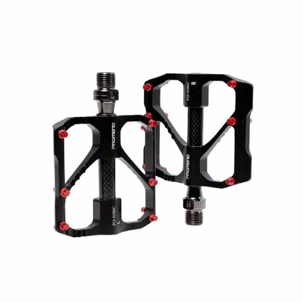Pedal MTB Promend Aluminio Carbono Preto