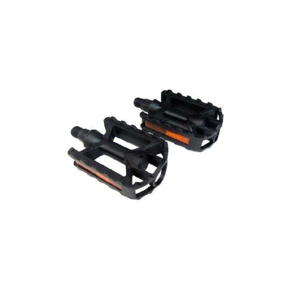 Pedal Plastico Infantil Preto/Cores Rosca Fina 1/2 Metalciclo