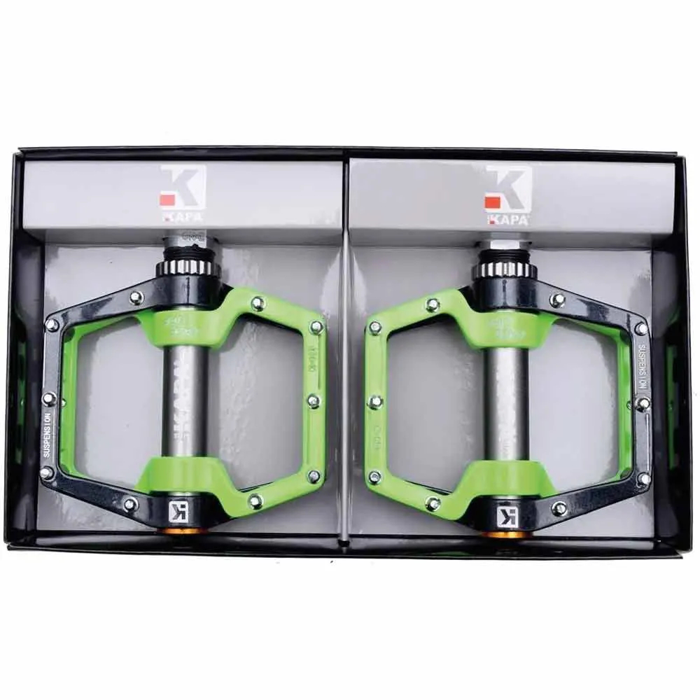 Pedal Plataforma Kapa Com Amortecimento Cinza Com Verde