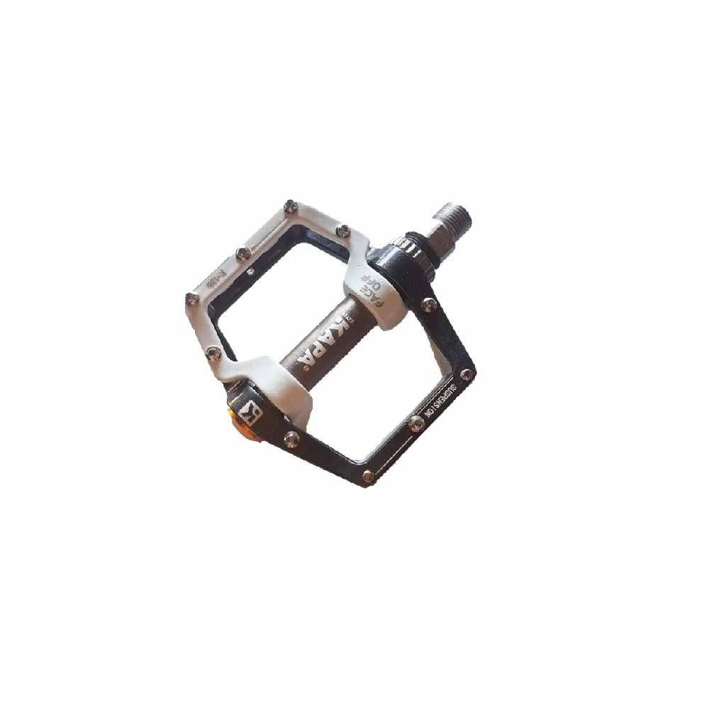 Pedal Plataforma Kapa Com Amortecimento Preto Com Branco