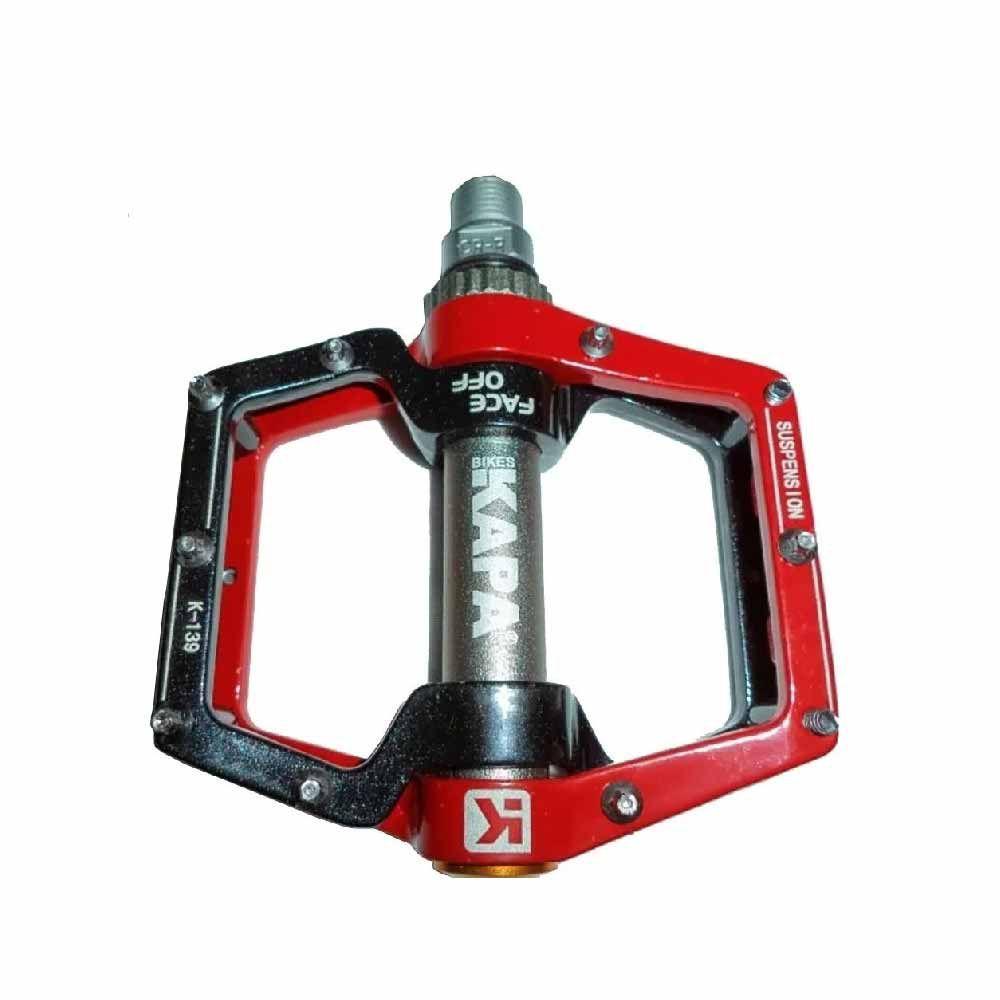 Pedal Plataforma Kapa Com Amortecimento Vermelho Com Preto