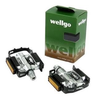 Pedal Wellgo Mtb Clip e plataforma Preto C/ Taco c002 9/12