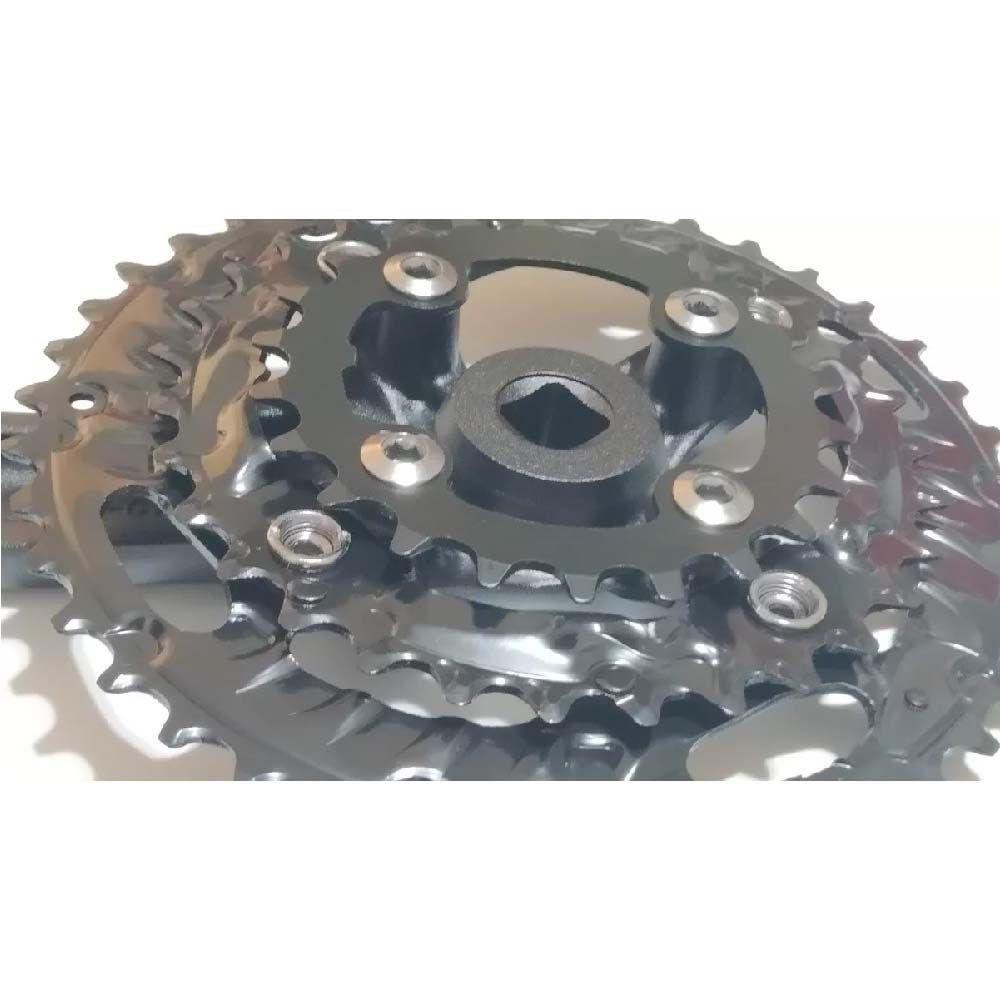 Pedivela Triplo Xtime Tsw 40/30/22D C/Braço Xt340 Alumínio