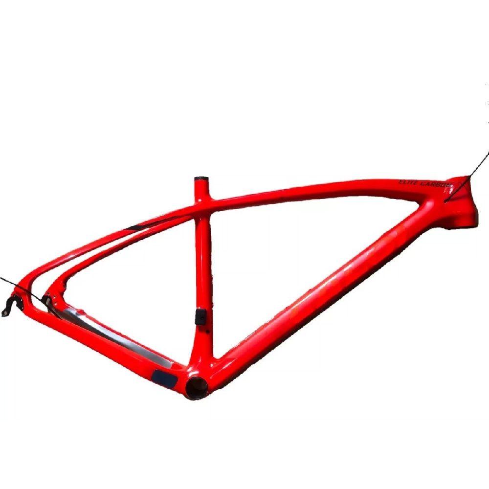 Quadro 17 Caloi Elite Carbon Sport 2020 Vermelho Carbono