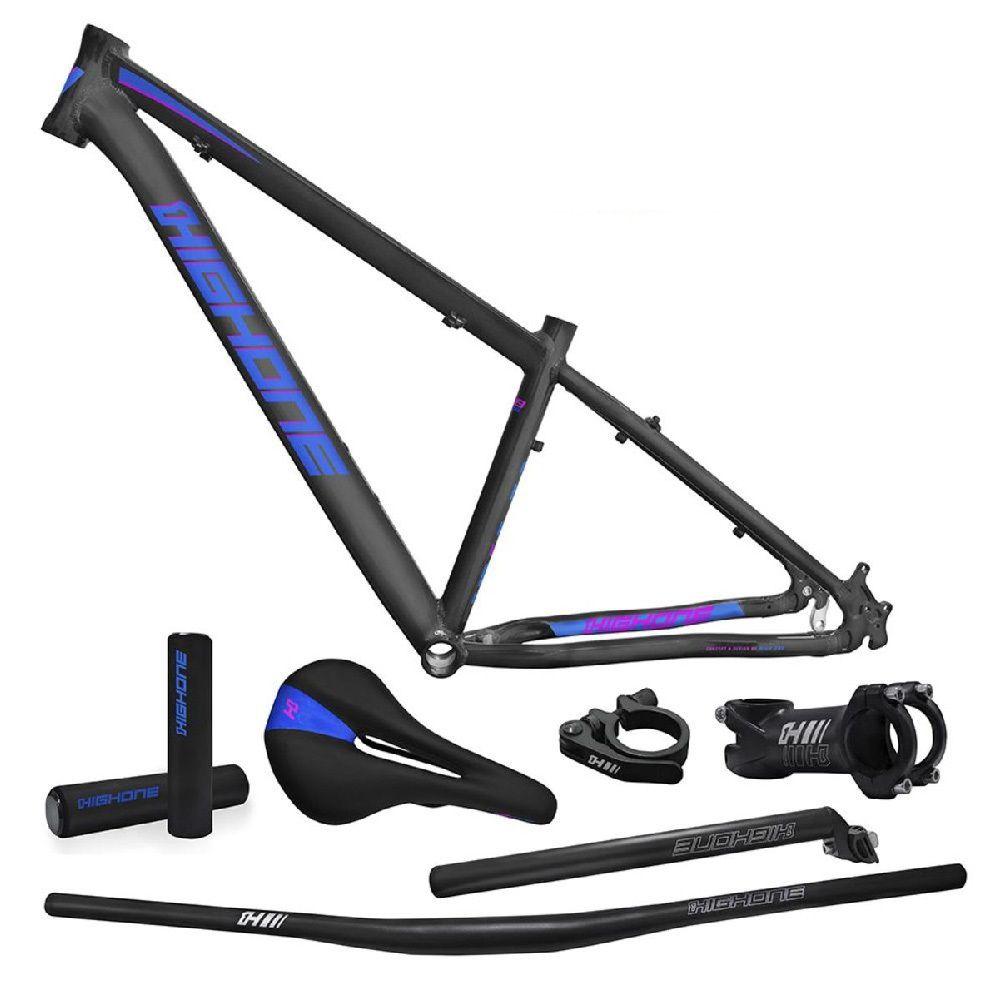 Quadro High One Kit 29x19 Next Grafite Azul/Roxo