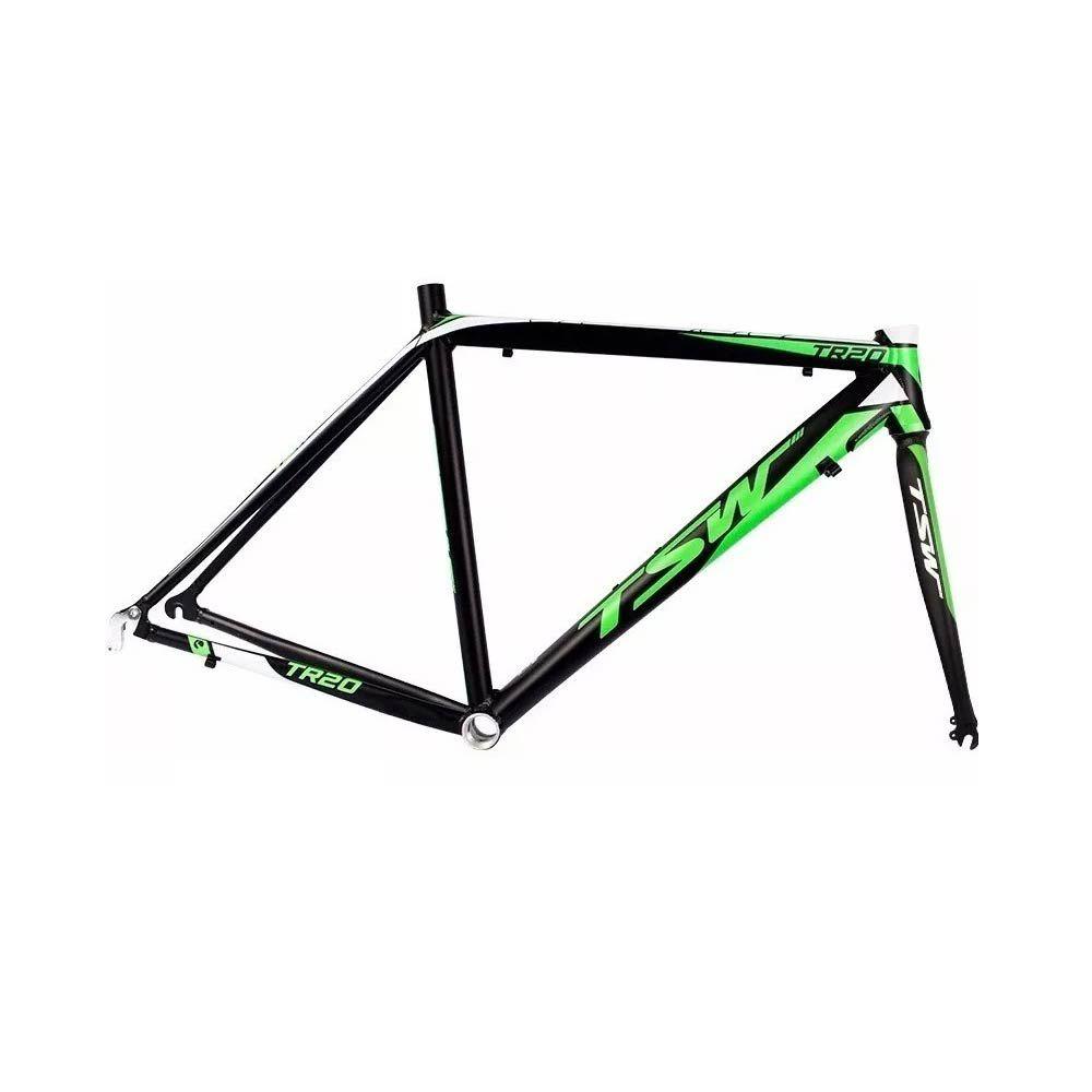 Quadro Tsw Speed TR20 T/51 Preto Com Verde + Garfo Alumínio