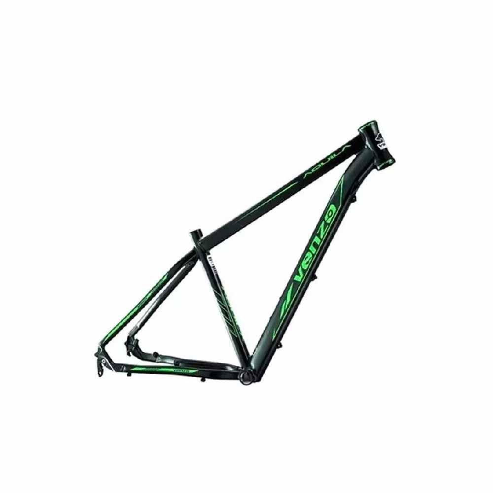 Quadro Venzo Aquila Aro 29 T/19 Preto Com Verde Alumínio