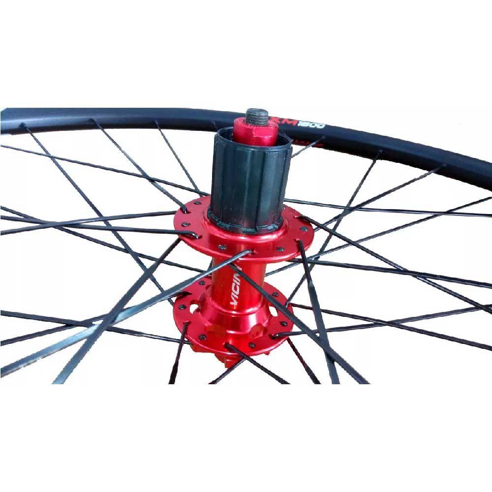 Roda Aro 29 MtB Vivatec Par XM1800 24 Raio T/D Cubo Vermelho