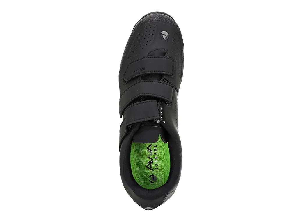 sapatilha avva extreme comp 3 velcros preto mtb (promoção)