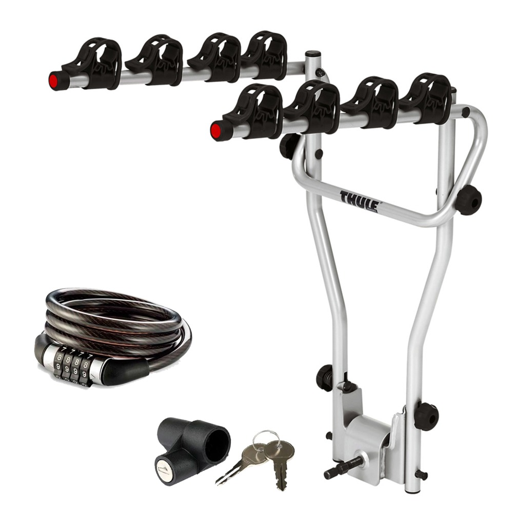 Suporte p/4 Bicicletas Thule HangOn P/ Engate 9708 + Cadeado