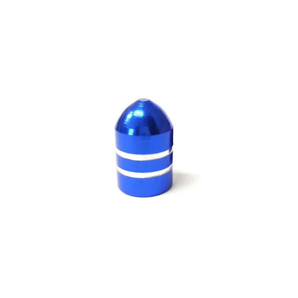 Tampa De Valvula Alumínio Azul Curta Unidade