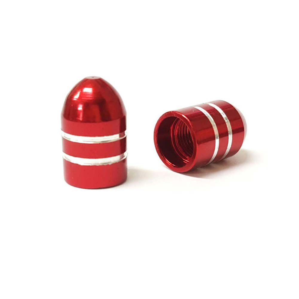 Tampa De Valvula Alumínio Vermelho Curta Unida