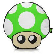 Almofada Gamer Cogumelo verde - 1 UP
