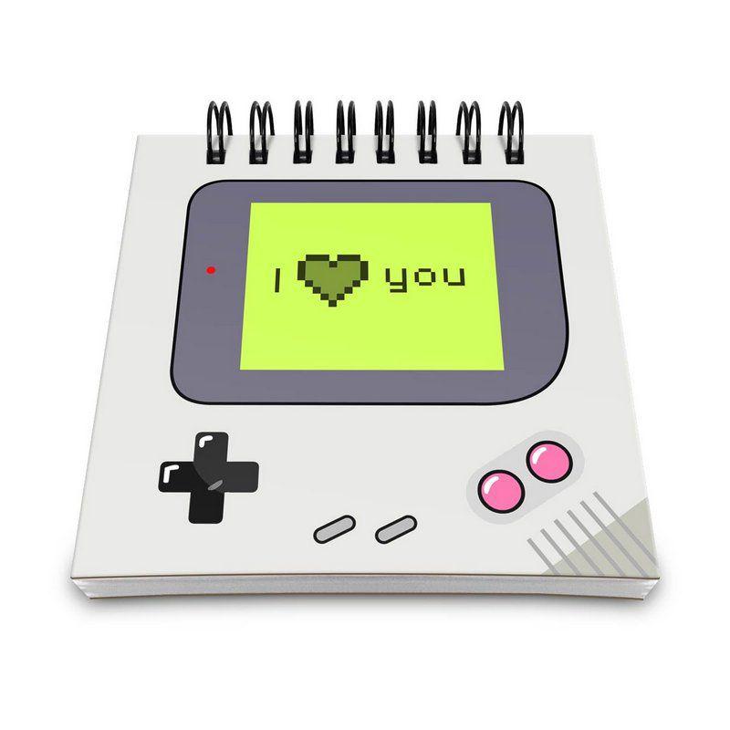 Bloco de Anotações Gamer Boy - I Love You  - Pop Funkos