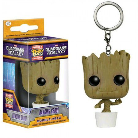 Chaveiro Pocket Pop - Dancing Groot -Guardians The Galaxy  - Pop Funkos