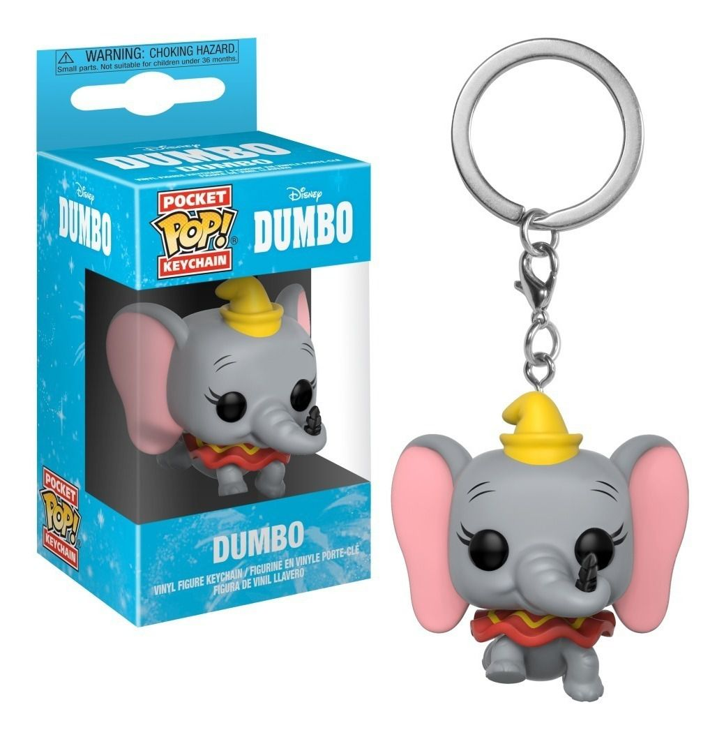 Chaveiro Pocket Pop - Dumbo - Disney  - Pop Funkos