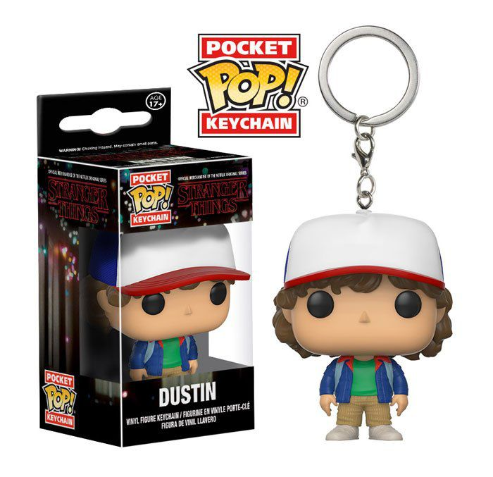 Chaveiro Pocket Pop - Dustin - Stranger Things   - Pop Funkos
