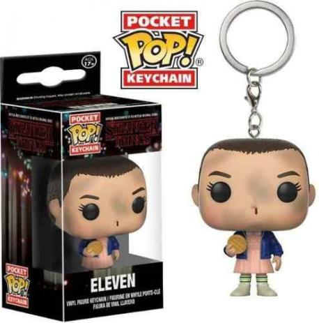 Chaveiro Pocket Pop - Eleven - Stranger Things   - Pop Funkos
