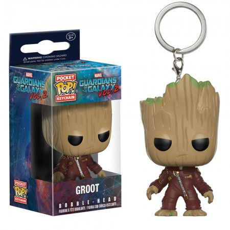 Chaveiro Pocket Pop - Groot - Guardians The Galaxy  - Pop Funkos
