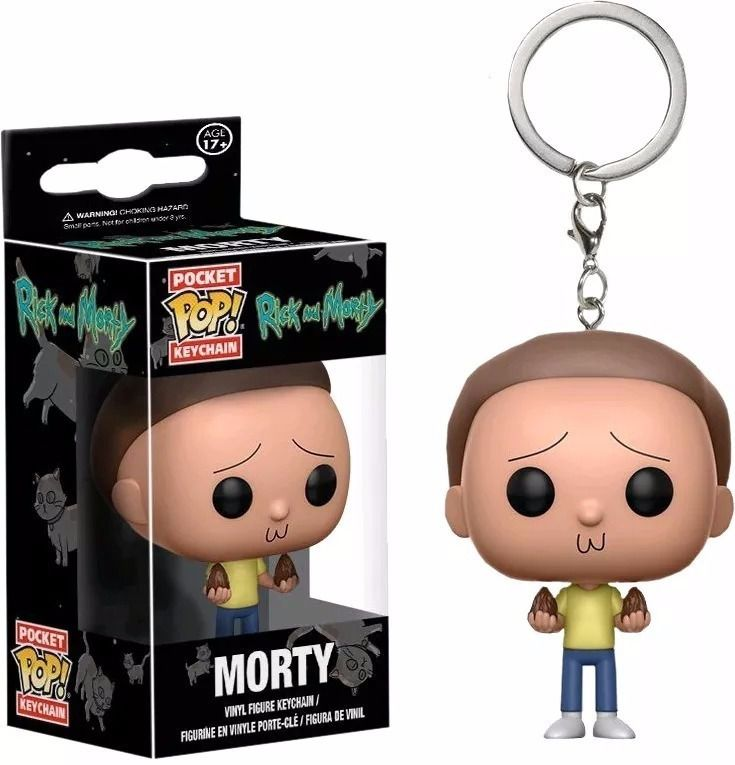 Chaveiro Pocket Pop - Morty - Rick And Morty  - Pop Funkos