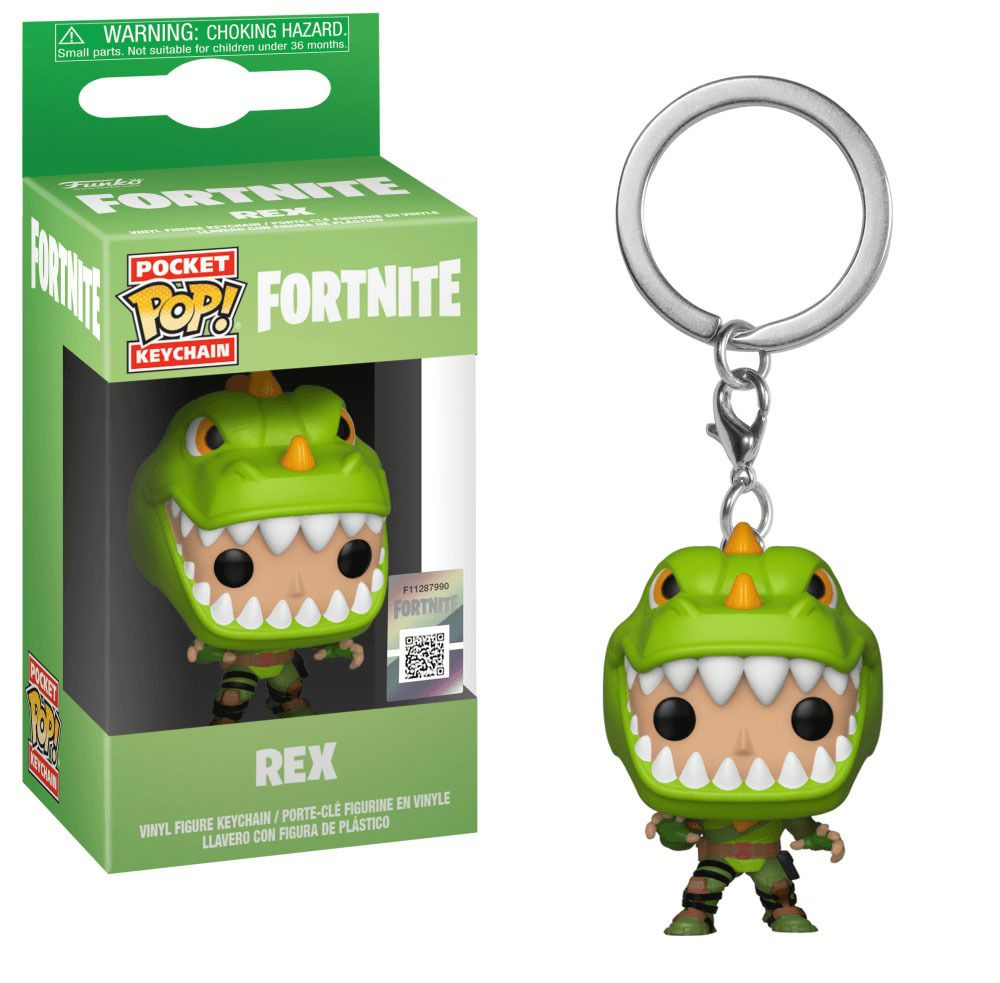 Chaveiro Pocket Pop - Rex - Fortnite  - Pop Funkos