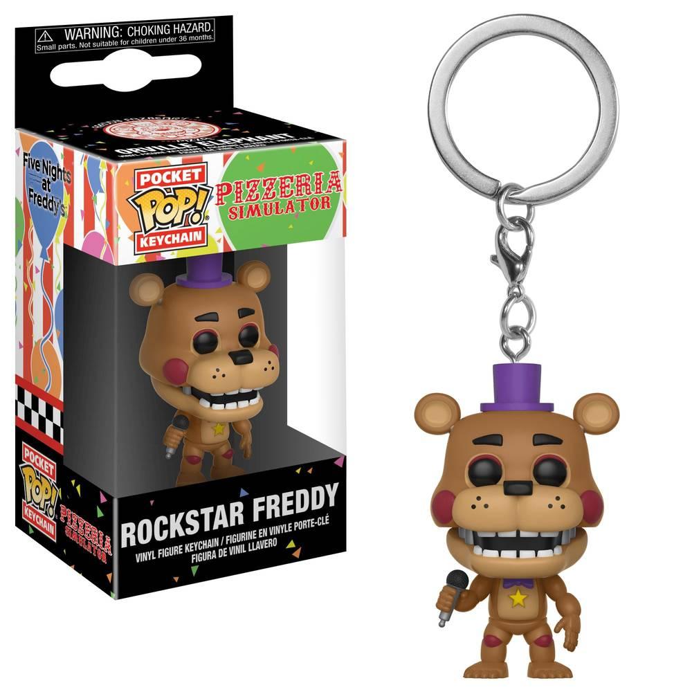 Chaveiro Pocket Pop - Rockstar Freddy - Pizzeria Simulator  - Pop Funkos