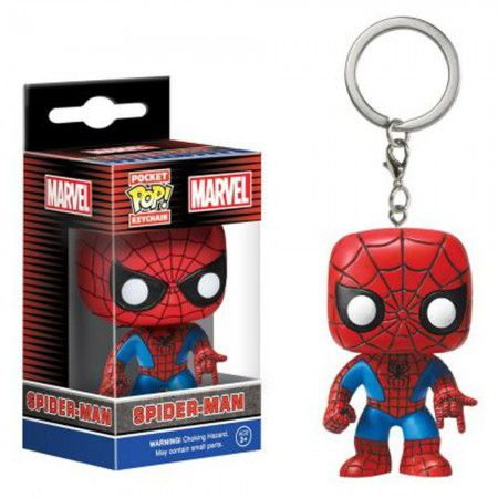 Chaveiro Pocket Pop - Spider-Man - Marvel     - Pop Funkos