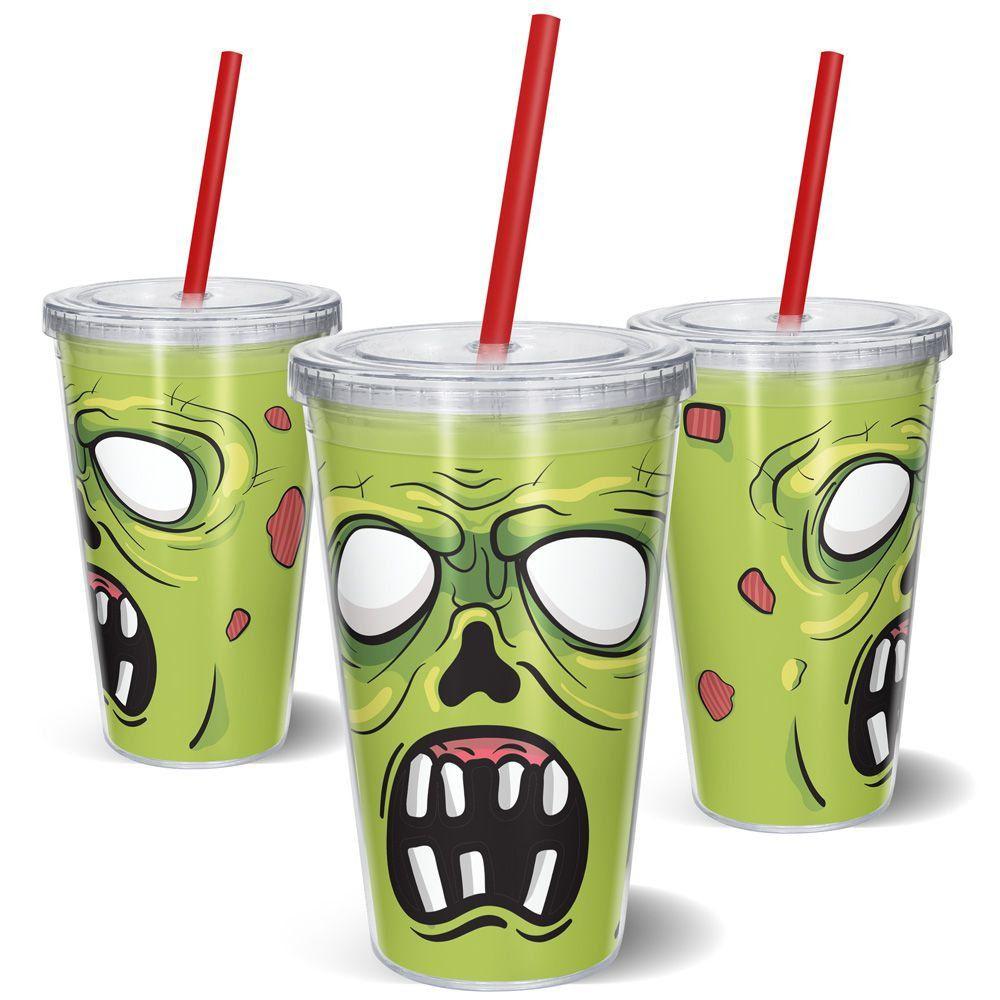 Copo Canudo Zombie - 500ml   - Pop Funkos