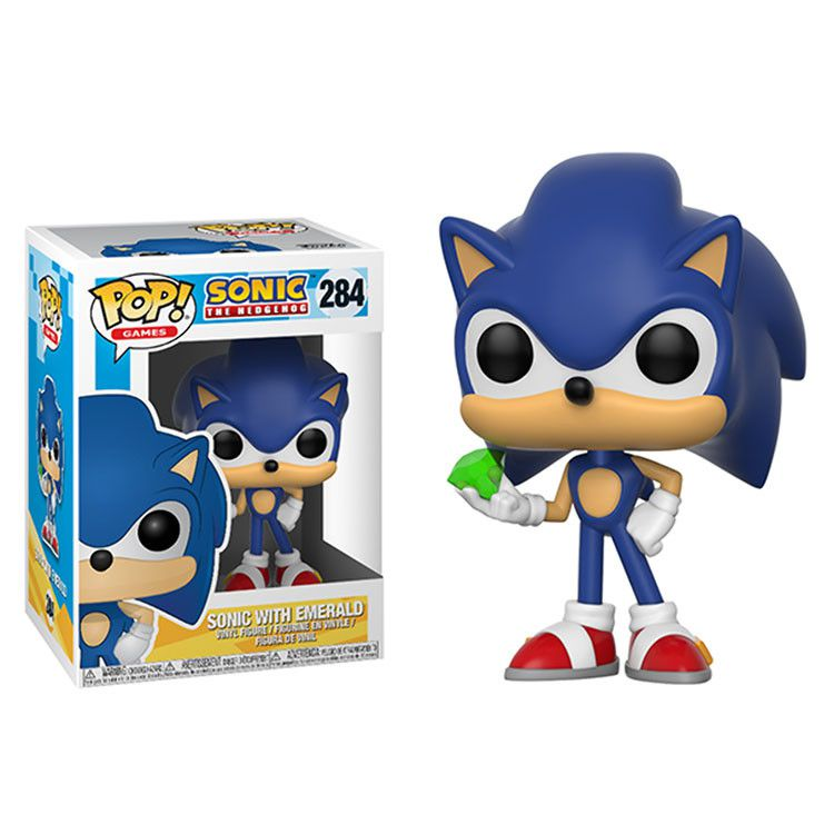 Funko Pop #284 Sonic With Emerald - Sonic The Hedgehog  - Pop Funkos
