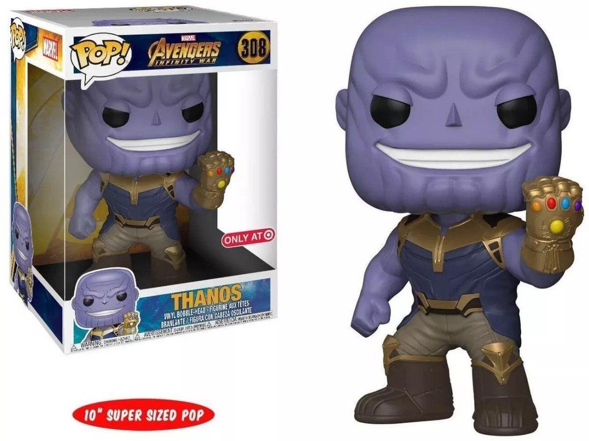 """Funko Pop #308 - Thanos 10""""  Vingadores: Guerra Infinita   - Pop Funkos"""