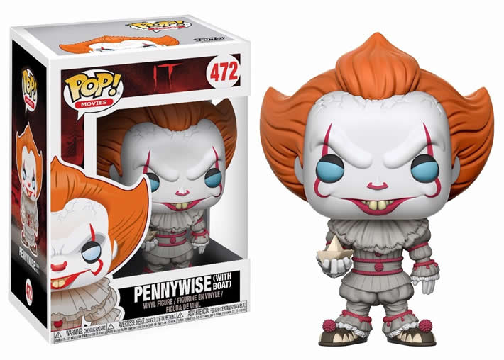 Funko Pop #472 - Pennywise - (With Boat) - IT  - Pop Funkos
