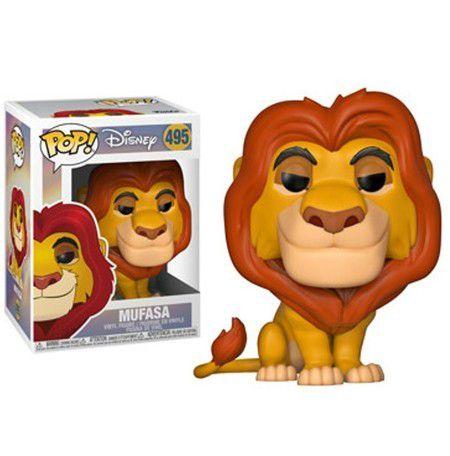 Funko Pop #495 - Mufasa - Rei Leão - Disney  - Pop Funkos